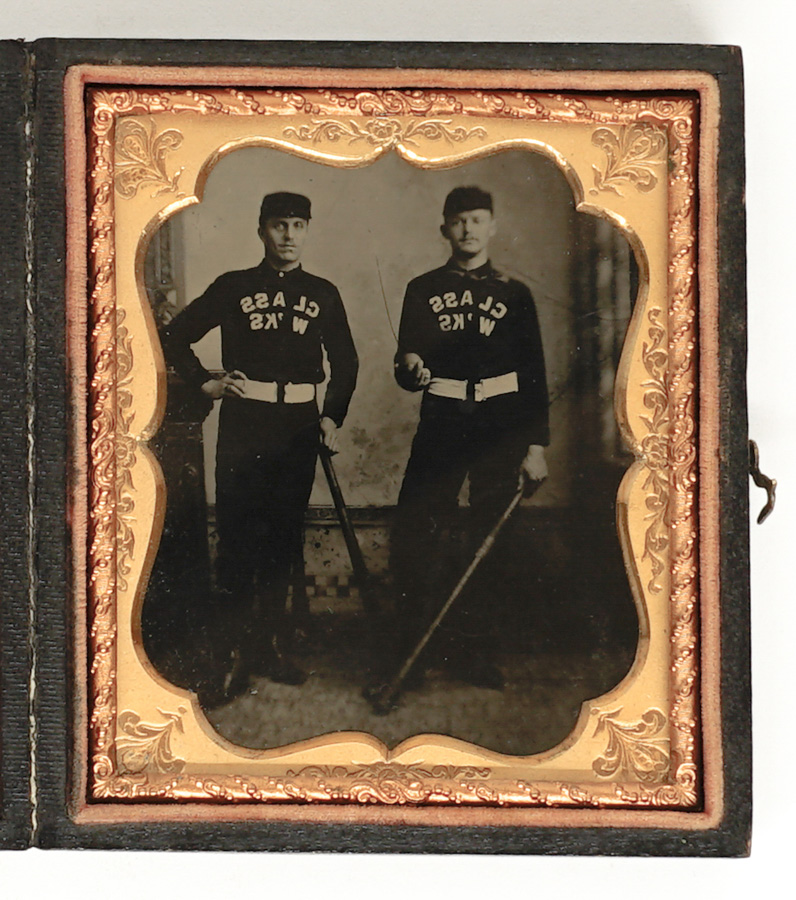 Ferrotype/Tintype Two Baseball Players 1/6 Plate