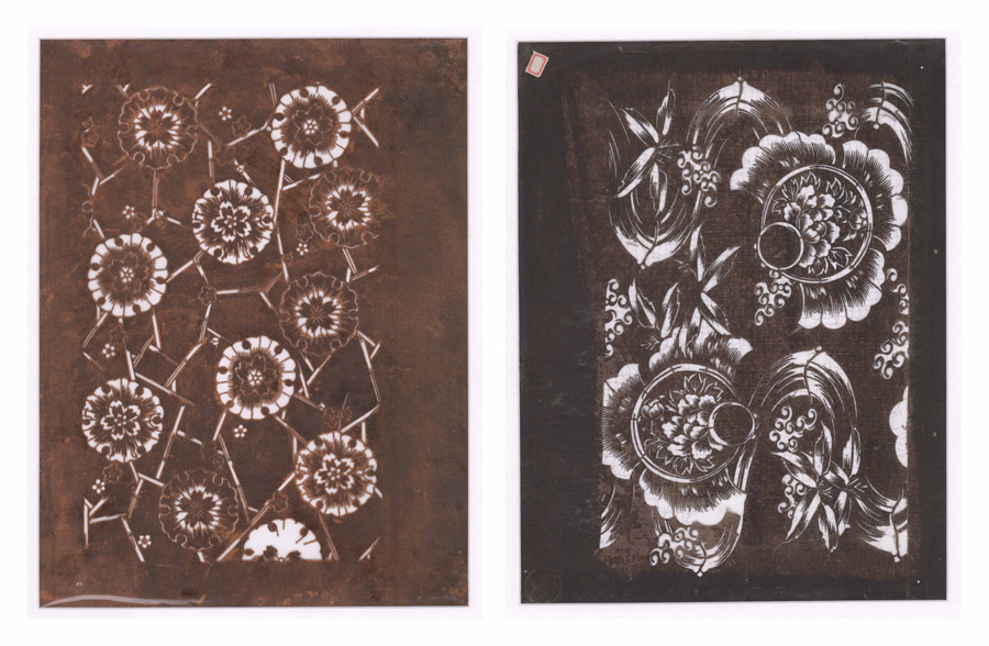 Japanese Fabric Stencils [Floral]