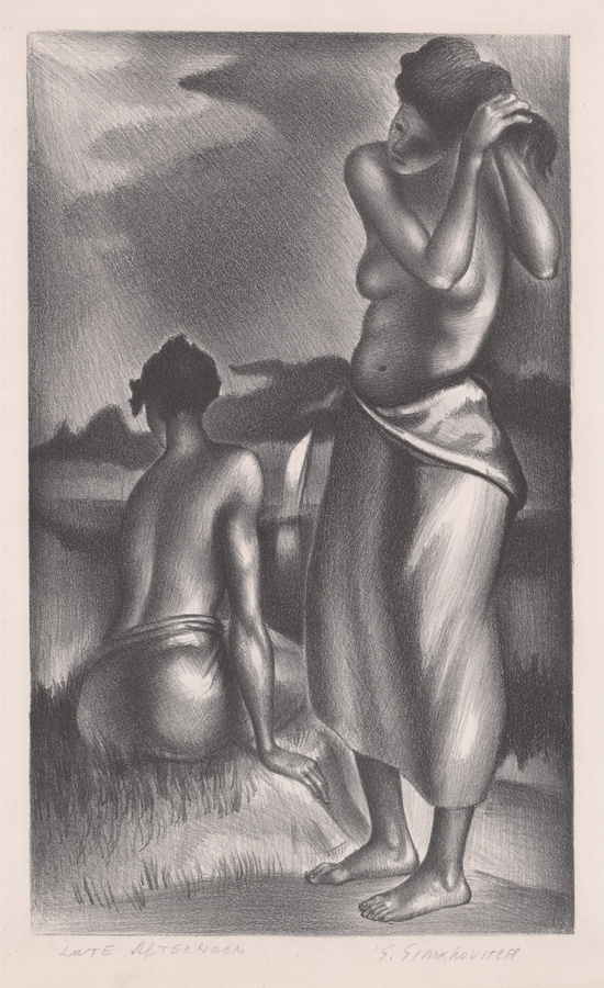 Simka Simkhovitch Lithograph [WPA, Women Bathing]