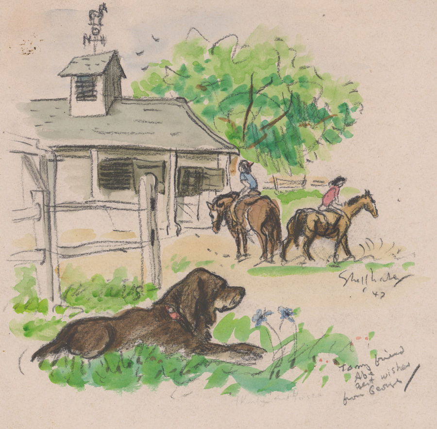 George Shellbase Watercolor/Crayon [Dogs, Horses]