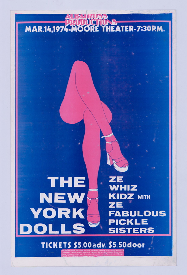 The New York Dolls at Moore Theater Poster