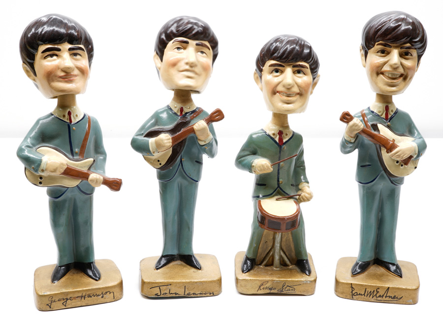 Beatles Nodders by Car Mascots Set of 4