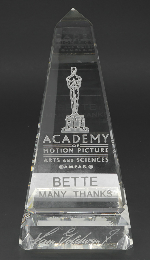 Bette Davis Crystal Award From ©A.M.P.A.S.®