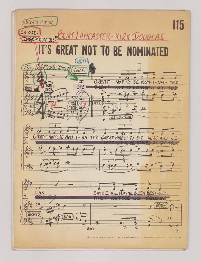 1958 Oscars® It's Great Not To Be Nominated Music