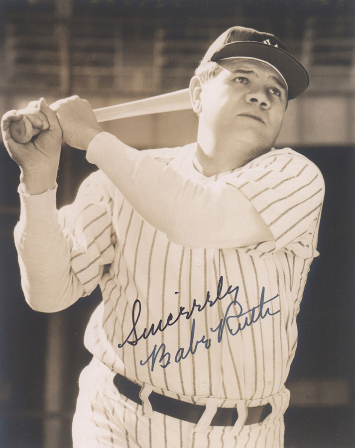 Babe Ruth Pride of the Yankees Signed Photo BSA 10