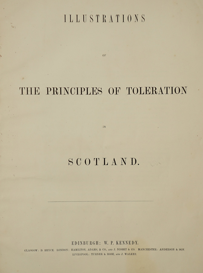 The Principles of Toleration in Scotland