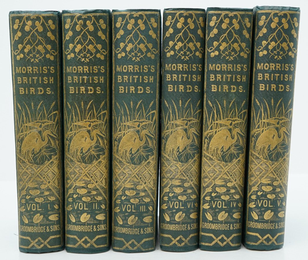History of British Birds by Morris 6 Vol. 1865