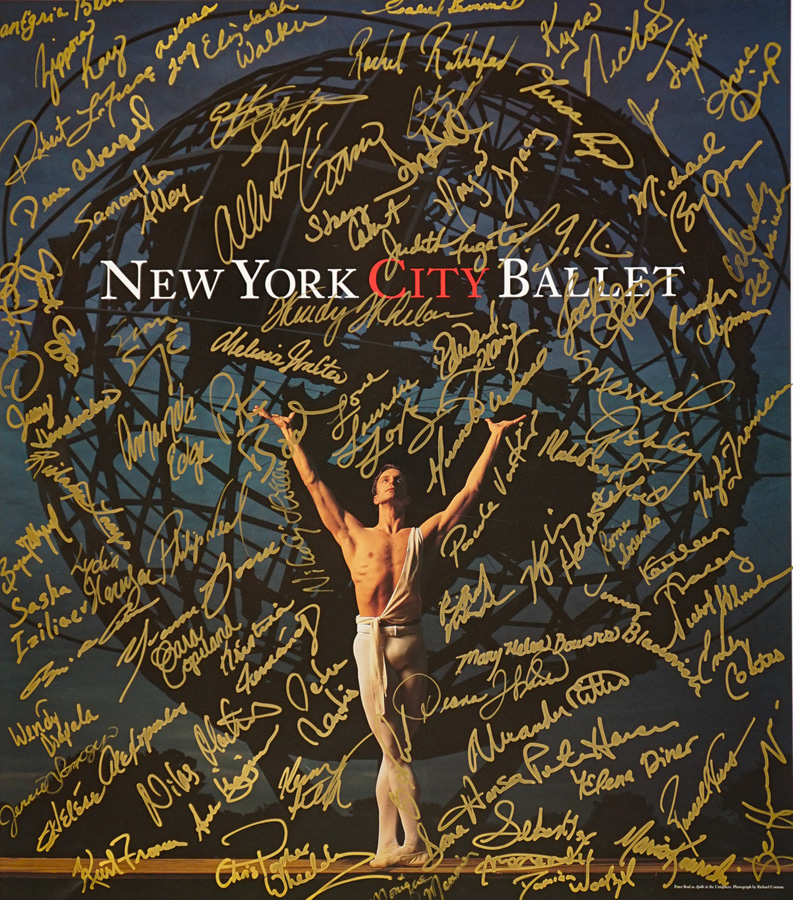 New York City Ballet Signed Poster, Peter Boal