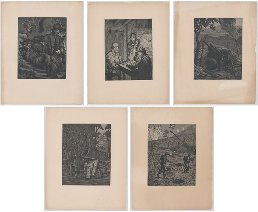 Rudolph Von Ripper Etchings [WWII, 34th Infantry]