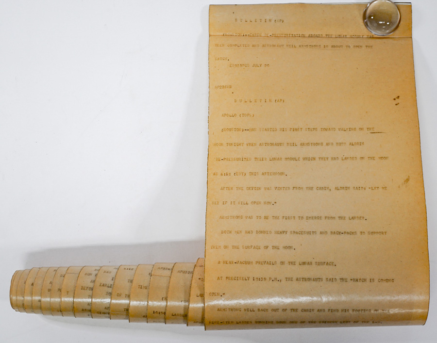 RARE Associated Press Teletype-Bulletin News Wire
