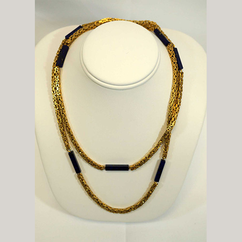 18K Gold & Lapis Necklace