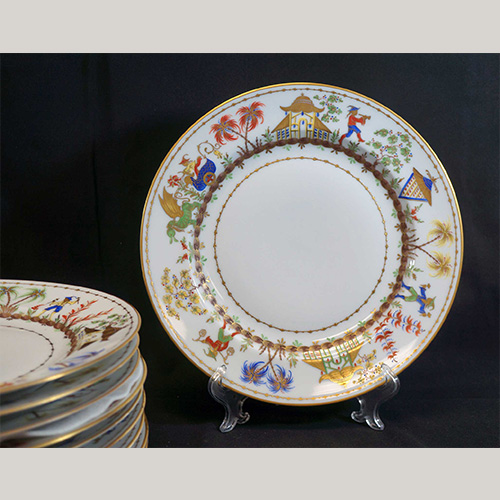Tiffany & Co Cirque Chinois Dinner Plates 10Pcs