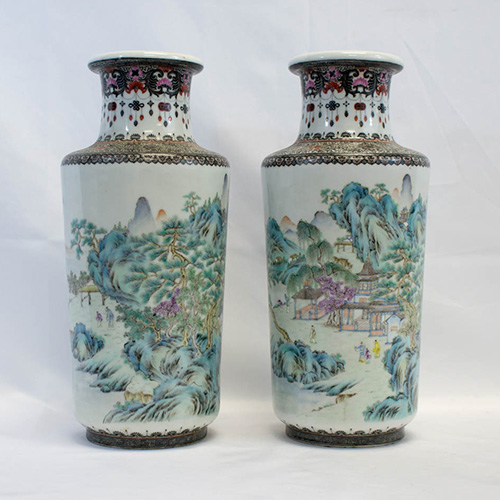 Rare pair of Chinese Republic Vases with Provenance