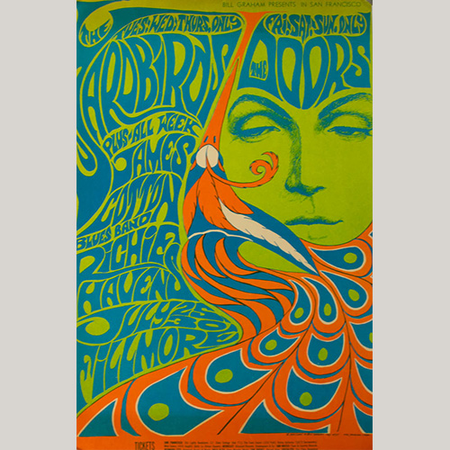 The Doors Psychedelic Poster