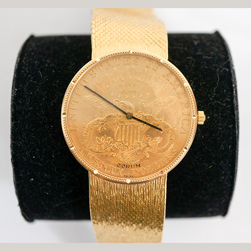 Corum $20 Coin Gold Watch