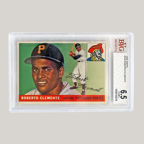 1955 Topps #164 Roberto Clemente RC BVG 6.5