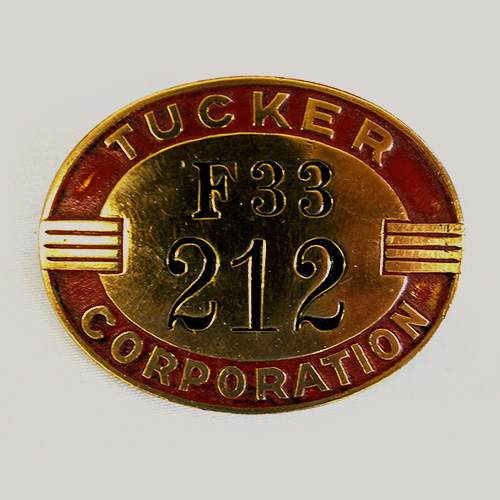 Tucker Car Co. Employee Badge