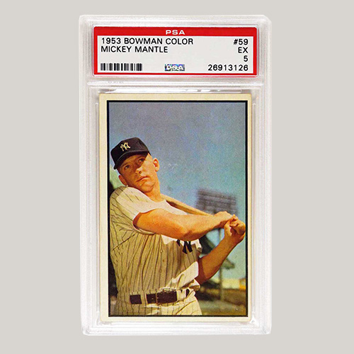 Bowman Color #59 Mickey Mantle PSA 5
