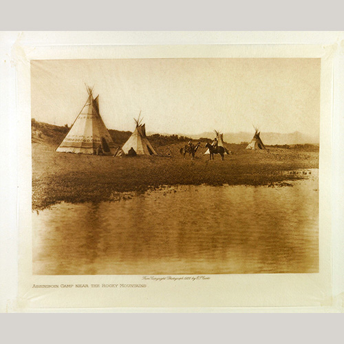 Edward Curtis Tissue Photogravure Assiniboin