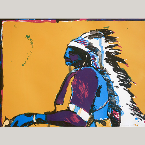 Fritz Scholder 1937-2005 Signed Lithograph