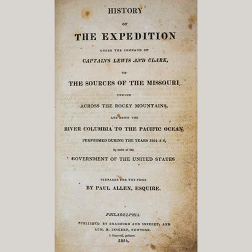 History of the Expedition of Lewis and Clark