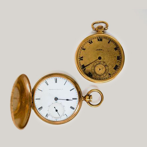 Two Vintage Pocket Watches by American Watch Co.