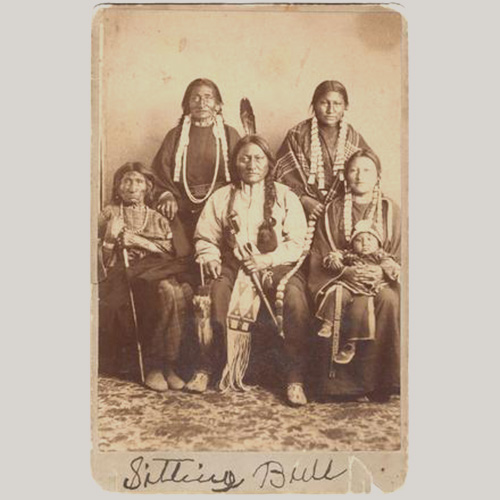 Sitting Bull And Family Signed Photo