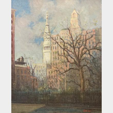 Leon Dolice New York 1892-1960 Original Oil
