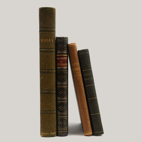Group of Four Books Including the Poetical Works of Sir Thomas Moore