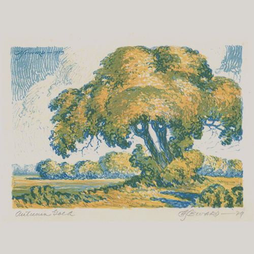Coy Avon Seward Lithograph [Autumn Gold]