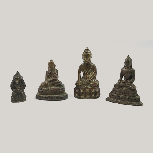 Asian Bronze Sitting Buddhas