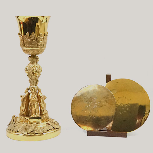 Communion Chalice And Patens