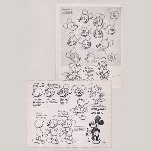 Disney Model Sheets of Mickey Mouse