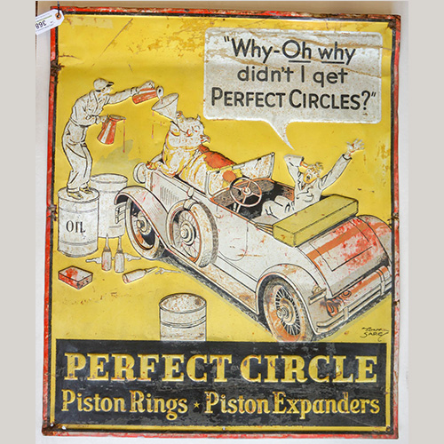 Perfect Circle Piston Rings Metal Sign